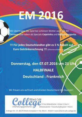Fußball EM 2016 Halbfinale